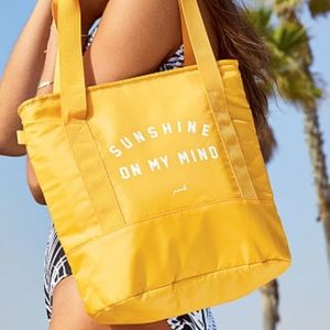 NWT- VS PINK Cooler Tote - yellow